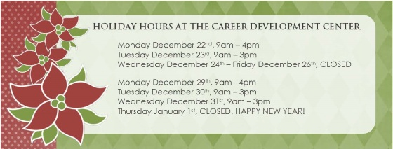 Holiday hours at CDC